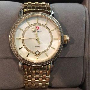 MICHELE Serein 16 gold and diamond watch